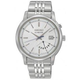 Seiko Seiko Heren Kinetic Staal Bracelet Wit SRN027P1