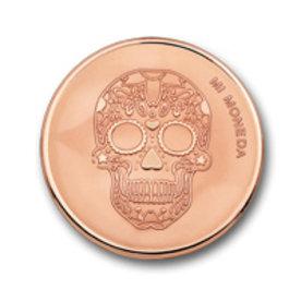 Mi Moneda Mi-Moneda munt large Skull & Fire