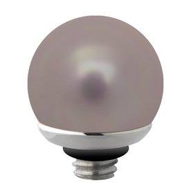 Melano Melano Twisted Stainless Steel Pearl setting Gray Blue