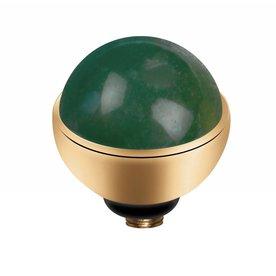 Melano MelanO Twisted Gold color setting Gem Stone Mosagate