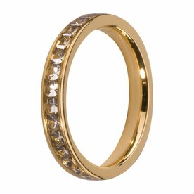Melano MelanO Side Ring Gold Plated Crystal