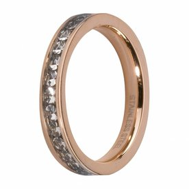 Melano MelanO Side Ring Rosé Gold Plated Crystal