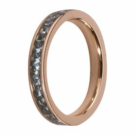 Melano MelanO Side Ring Rosé Gold Plated Aqua