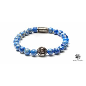 Rebel and Rose Rebel & Rose Universe Blue - Silver herenarmband RR-8L023-S