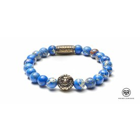 Rebel and Rose Rebel & Rose Universe Blue - Gold herenarmband RR-8L024-S
