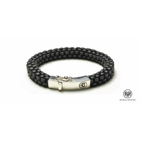Rebel and Rose Rebel & Rose Braided Square - Black herenarmband RR-L0006-S
