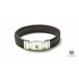 Rebel and Rose Rebel & Rose Braided Flat Black/Earth herenarmband RR-L0001-S