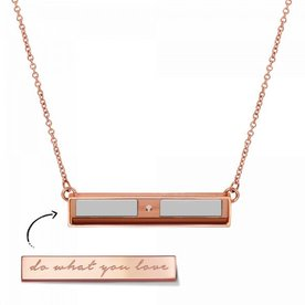 Mi Moneda Take What You Need collier Rose