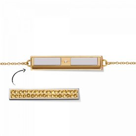 Mi Moneda Take What You Need armband Geel