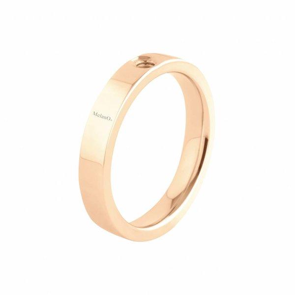 Melano Melano Twisted ring Tatum Rose Goud