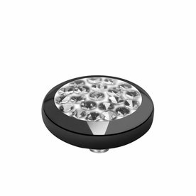 Melano Melano Vivid zetting Multi CZ Black crystal