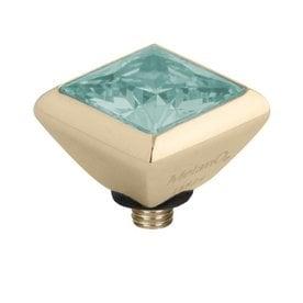 Melano Melano Twisted zirconia setting Square Turquoise