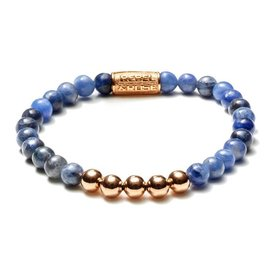 Rebel and Rose Rebel & Rose Midnight  Blue Rose Gold herenarmband  RR-60004-R