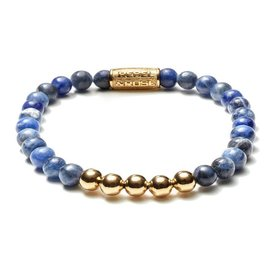 Rebel and Rose Rebel & Rose Midnight  Blue Gold herenarmband  RR-60004-G