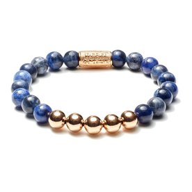 Rebel and Rose Rebel & Rose Midnight Blue Rose Gold herenarmband RR-80004-R