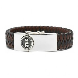 Silk S!lk armband leather black/brown 811