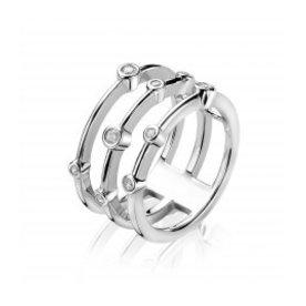 Zinzi Zinzi zilveren ring met zirkonia zir1441