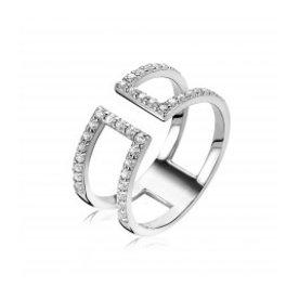 Zinzi Zinzi zilveren ring met zirkonia zir1478