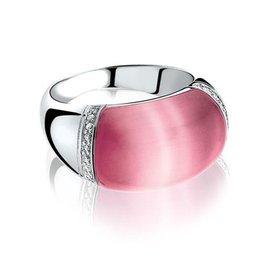 Zinzi Zinzi silver ring pink ZIR794 size 56