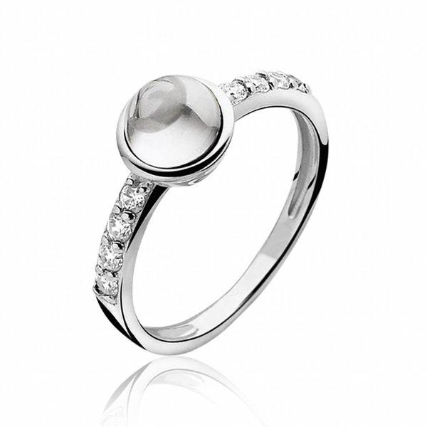 Zinzi Zinzi zilveren ring wit ZIR927