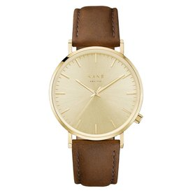 Kane watches Kane mens watch gold rush vintage brown GG050