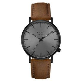 Kane watches Kane herenhorloge black out vintage brown BO050