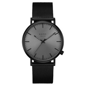 Kane watches Kane mens watch black out mesh BO100