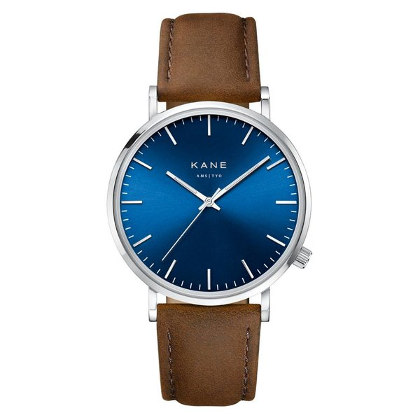 Kane watches Kane herenhorloge blue arctic vintage brown SA050