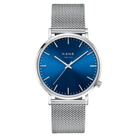 Kane watches Kane mens watch blue arctic silver mesh SA500
