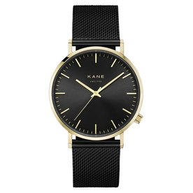 Kane watches Kane mens watch gold club black mesh GB100
