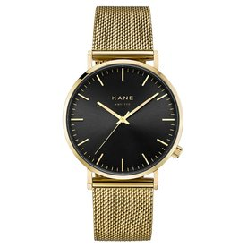 Kane watches Kane herenhorloge  club geel mesh GB900