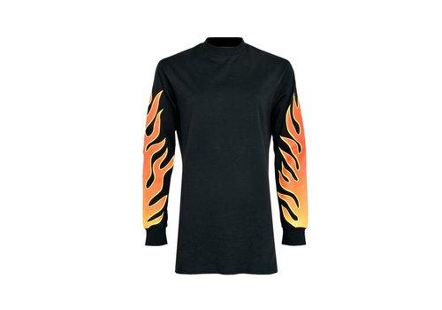 LA SISTERS FLAME SWEATER DRESS black