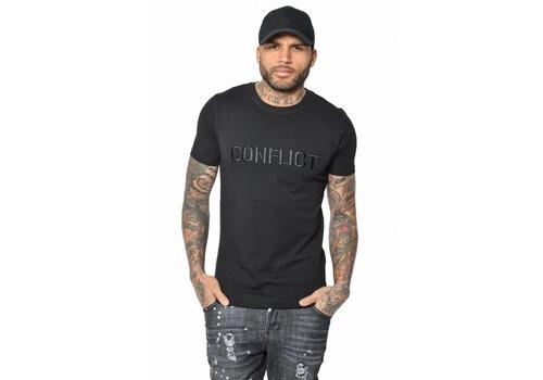 CONFLICT LOGO STITCH T-SHIRT BLACK
