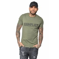 CONFLICT 3D LOGO T-SHIRT LIGHT ARMY