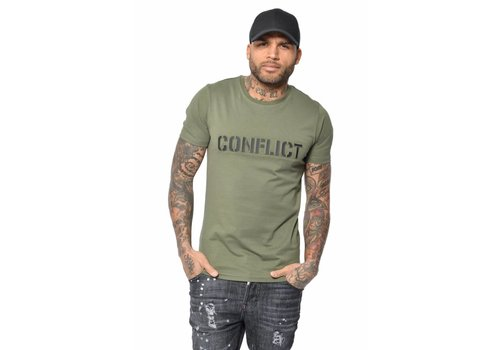 CONFLICT CONFLICT 3D LOGO T-SHIRT LIGHT ARMY