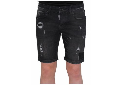 MY BRAND My Brand destroyed short jeans black