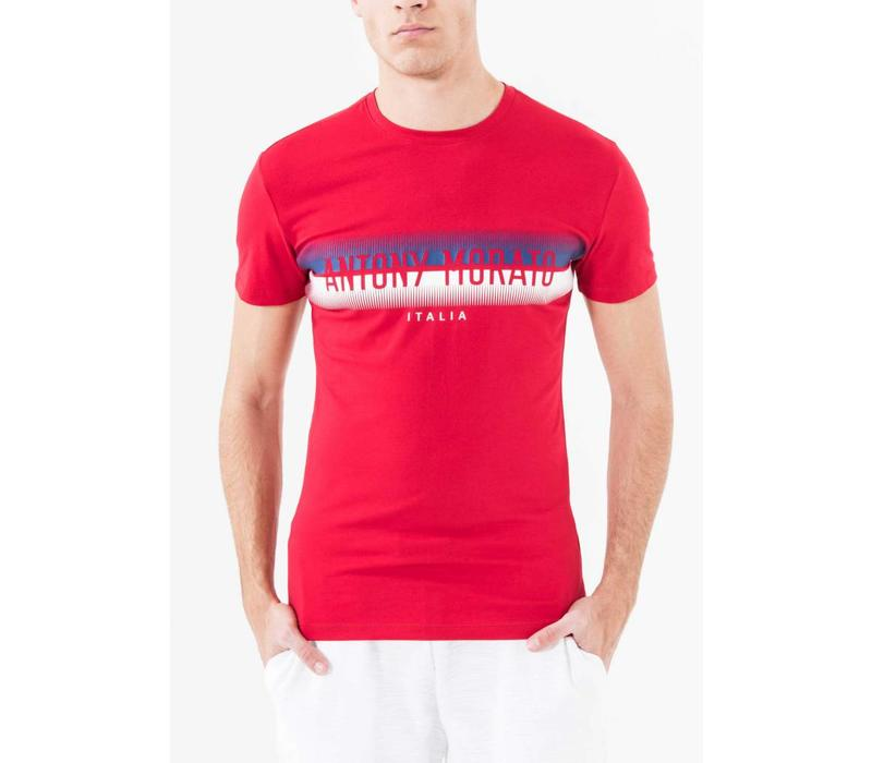 ANTONY MORATO COTTON-JERSEY T-SHIRT WITH PRINT DESIGN
