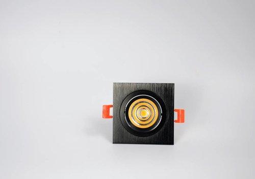 Crius vierkante zwarte downlight verstelbaar