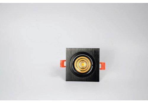 vierkante zwarte downlight verstelbaar