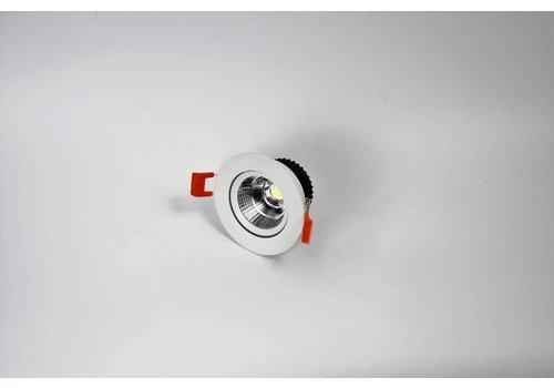 ronde witte downlight verstelbaar