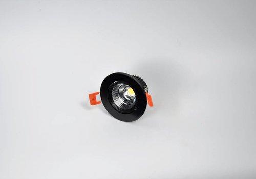 Crius ronde zwarte downlight verstelbaar