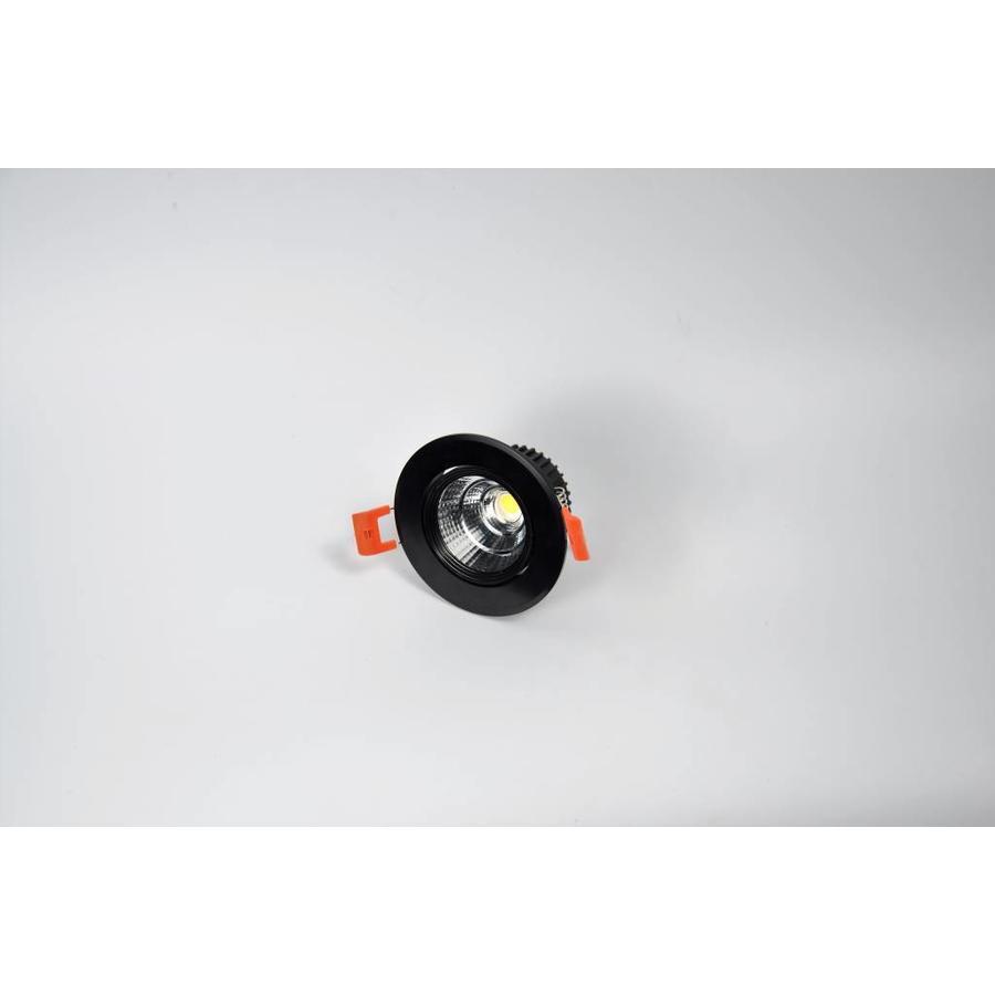 Verstelbare ronde zwarte downlight