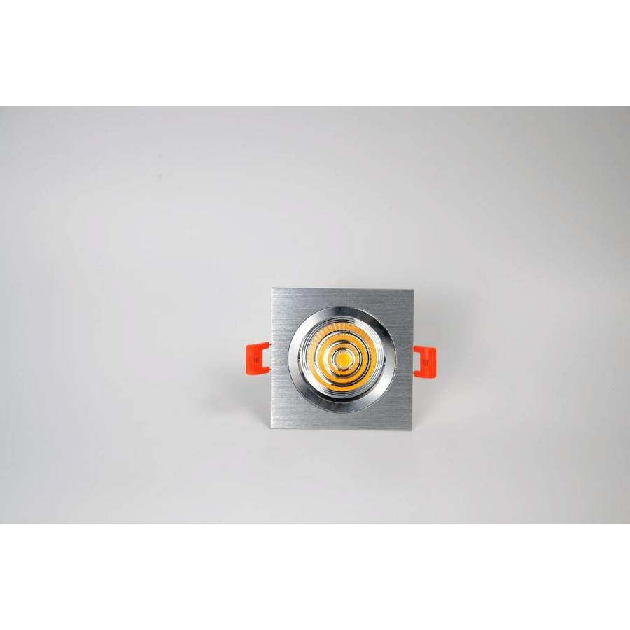 Verstelbare vierkante aluminium downlight