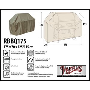 Raffles Covers RBBQ175, 175 x 70 H: 125 / 115 cm, taupe