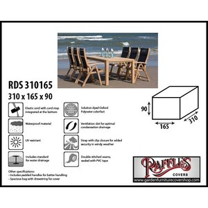 Raffles Covers RDS310165, 310 x 165 H: 90 cm, taupe