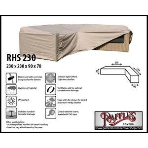 Raffles Covers RHS230, 230 x 230 x 90, H: 70 cm, taupe