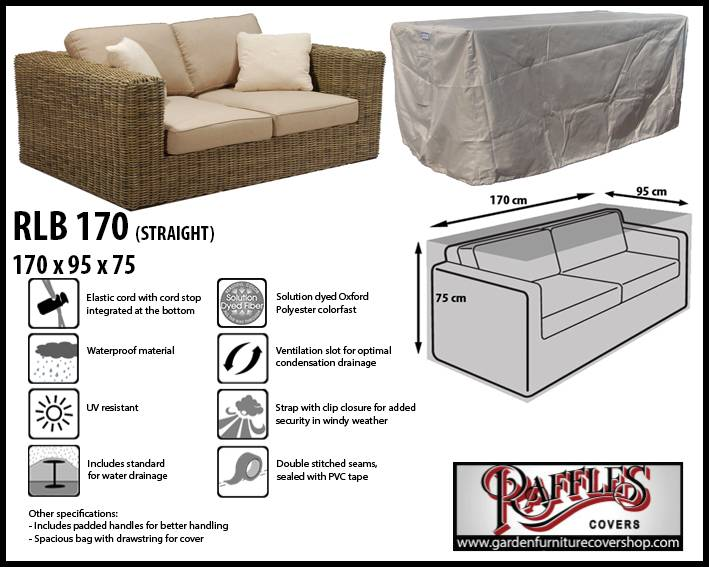 Raffles Covers Garden Sofa Protection Cover 170 X 100 H 75 Cm