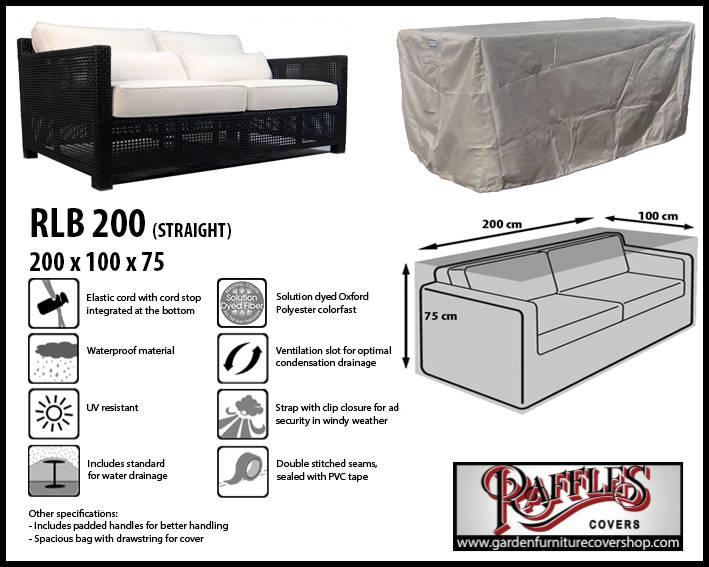 2 3 seater sofa cover 200 x 100 cm garden furniture cover shop. Black Bedroom Furniture Sets. Home Design Ideas