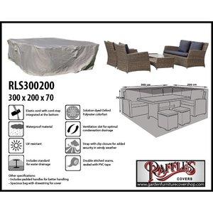 Raffles Covers RLS300200, 300 x 200 H: 70 cm, taupe