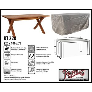Raffles Covers RT220, 220 x 100 H: 75 cm, taupe.